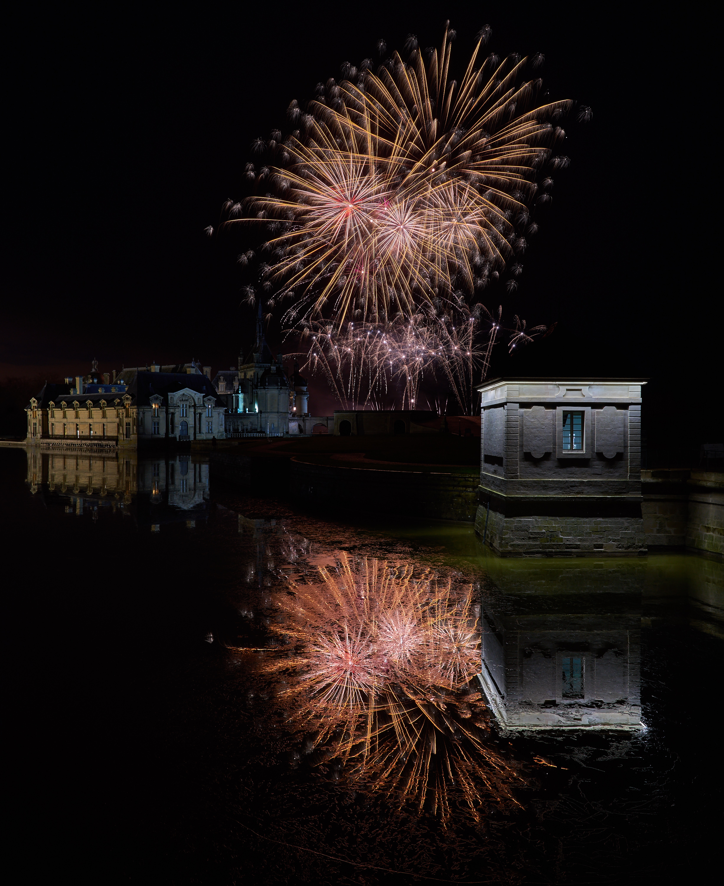 Photo de Feu d'artifice au Chateau de Chantilly